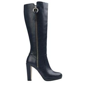 New GATTINONI Block Navy Blue Knee High Boots
